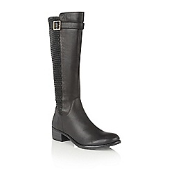 Lotus - Black leather 'Nuttall' knee high boots
