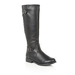 Lotus - Black 'Beal' knee high boots