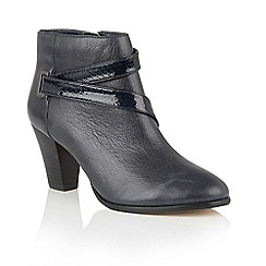 Lotus - Blue leather 'Thore' ankle boots