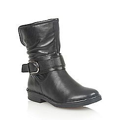 Lotus - Black leather 'Matterhorn' ankle boots