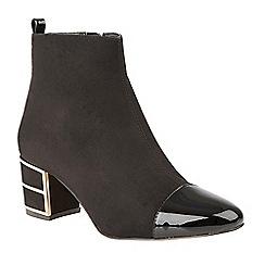 Lotus - Black 'Mica' mid heel ankle boots
