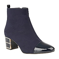 Lotus - Blue 'Mica' mid heel ankle boots