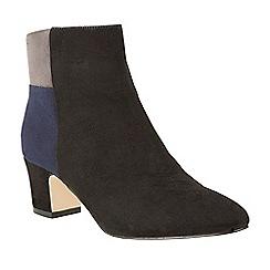 Lotus - Black 'Clara' mid heel ankle boots