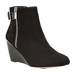 Lotus - Black 'Cassia' high heel ankle boots