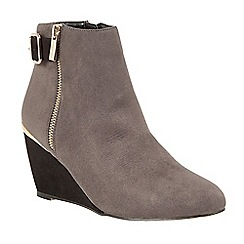 Lotus - Grey 'Cassia' high heel ankle boots