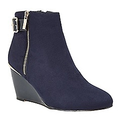 Lotus - Blue 'Cassia' high heel ankle boots
