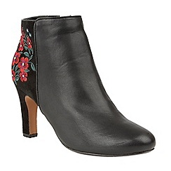 Lotus - Black 'Parisa' high heel ankle boots
