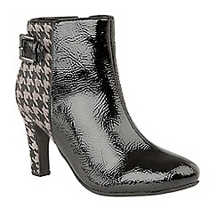 Lotus - Black 'Soni' high heel ankle boots