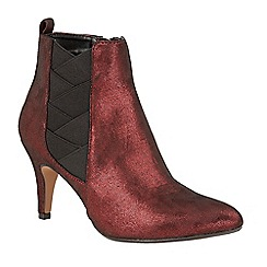 Lotus - Red 'Booney' high heel ankle boots