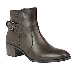 Lotus - Green 'Olivian' mid heel ankle boots