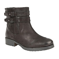 Lotus - Black 'Heckle' ankle boots