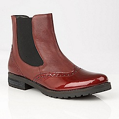 Lotus - Red 'Brianza' ankle boots