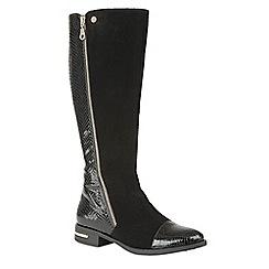 Lotus - Black 'Pontal' knee high boots