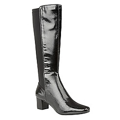 Lotus - Black 'Dorada' knee high boots
