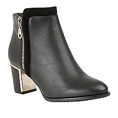 Lotus - Black 'Tabby' mid heel ankle boots