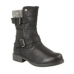 Lotus - Black 'Farrin' calf boots