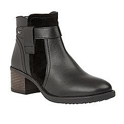 Lotus - Black 'Makayla' mid heel ankle boots