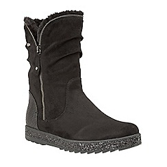Lotus - Black 'Jadis' calf boots