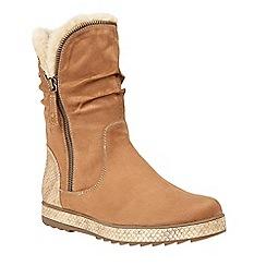 Lotus - Tan 'Jadis' calf boots