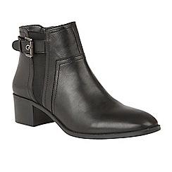 Lotus - Black 'Delana' mid heel ankle boots