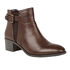 Lotus - Brown 'Delana' mid heel ankle boots