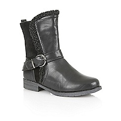 Lotus - Black 'Rink' calf boots