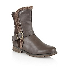 Lotus - Brown 'rink' calf boots