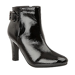 Lotus - Black 'Sonitas' high heel ankle boots