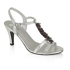 Lotus - Silver 'Fancy' T-bar sandals