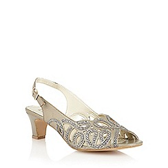 Lotus - Lotus gold 'Harper' court shoes
