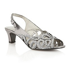 Lotus - Lotus pewter 'Harper' court shoes