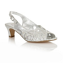 Lotus - Lotus silver 'Harper' court shoes