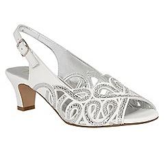 Lotus - White 'Harper' court shoes