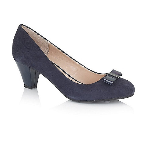 Lotus - Navy suede +Linda+ court shoes