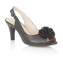 Lotus - Black 'Sarenna' peep toe shoes