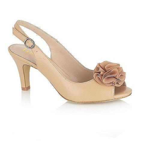Lotus - Nude +Sarenna+ sling back shoes