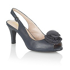 Lotus - Navy 'Sarenna' peep toe shoes