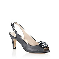Lotus - Navy 'Fascination' peep toe shoes