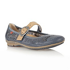 Lotus - Navy 'Hingis' casual shoes