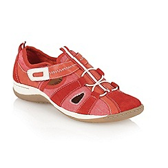 Lotus - Red suede 'Bianchi' casual shoes