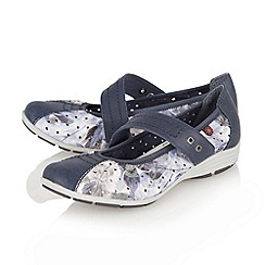 Lotus - Blue 'Stosur' ballerina inspired shoes
