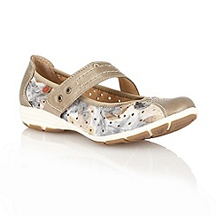 Lotus - Bronze 'Stosur' ballerina inspired shoes