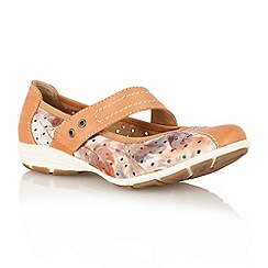 Lotus - Orange 'Stosur' ballerina inspired shoes