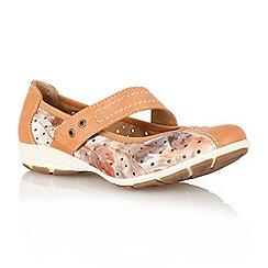 Lotus - Orange 'Stosur' ballerina inspired shoes