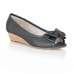 Lotus - Navy 'Willow' open toe shoes