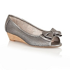 Lotus - Pewter 'Willow' open toe shoes