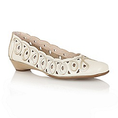 Lotus - Beige 'Lottie' slip on shoes