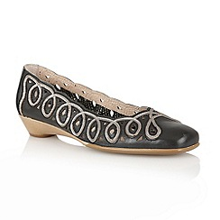 Lotus - Black 'Lottie' slip on shoes