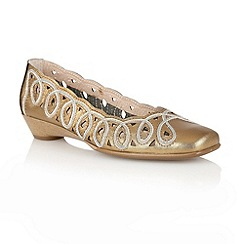 Lotus - Gold 'Lottie' slip on shoes