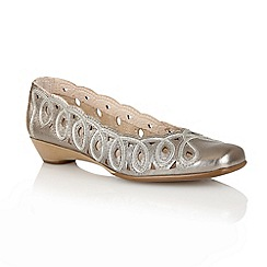 Lotus - Pewter 'Lottie' slip on shoes